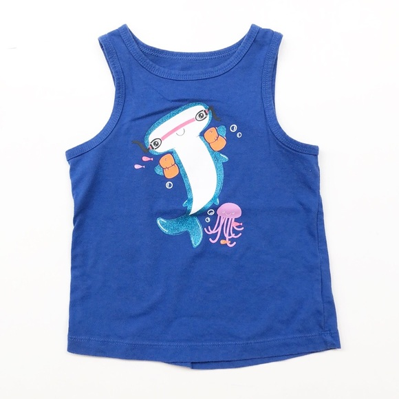 Cat & Jack toddler boy underwater graphic tank top